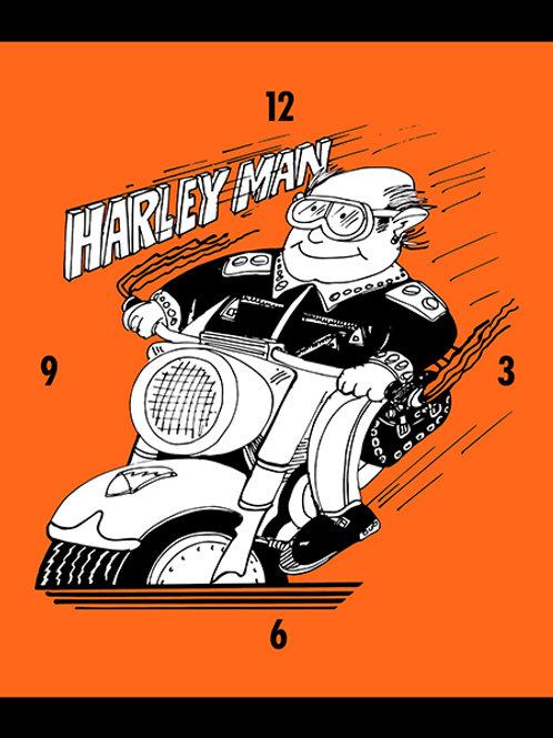 Harleyman Clock