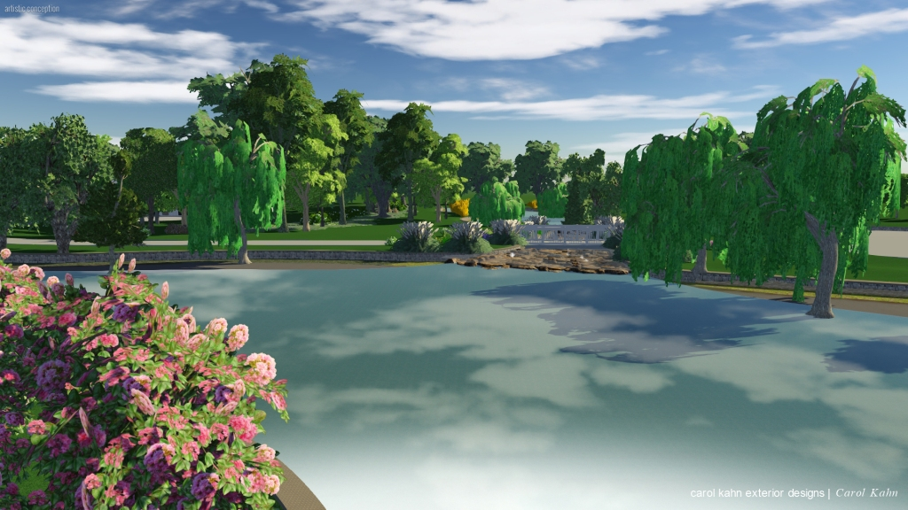 3D STREAM TO LOWER LAKE & BRIDGE