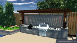 3D OF OUTDOOR KITCHEN