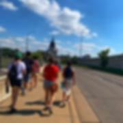 Anne Pilgrimage 2019 Walking to Basilica