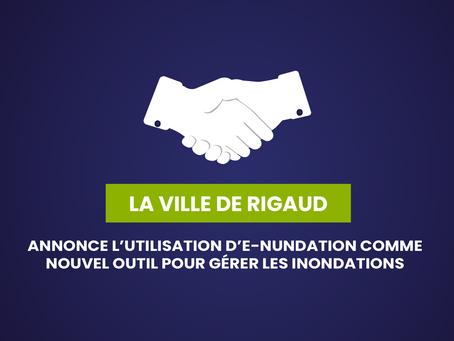 LA VILLE DE RIGAUD ANNONCE L'UTILISATION D'E-NUNDATION COMME NOUVEL OUTIL POUR GÉRER LES INONDATIONS