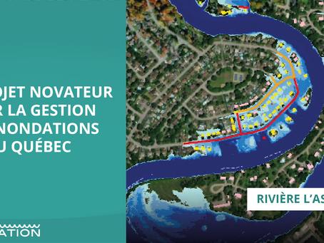 Un projet novateur pour la gestion des inondations au Québec