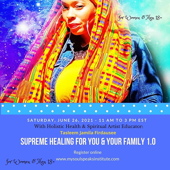 SOLD OUT! Supreme Health for You and Your Family 1.0