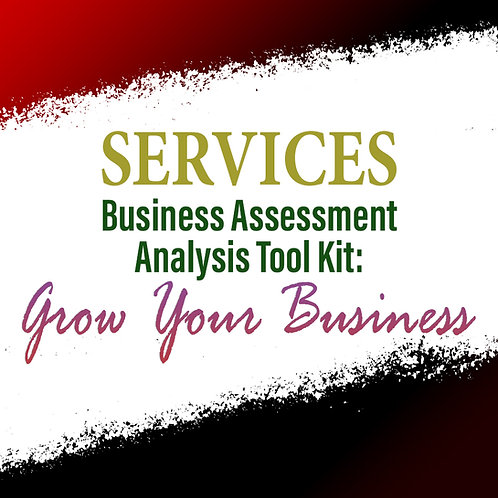 Services: Business Assessment Analysis Tool Kit To Grow Your Business