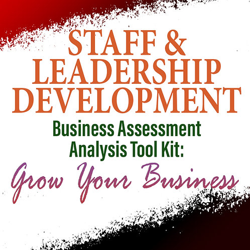 Staff & Leadership Development: Business Assessment Analysis Tool Kit To Grow Yo
