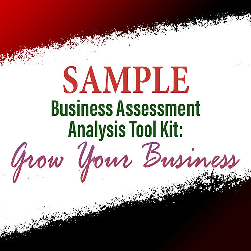 Sample: Business Assessment Analysis Tool Kit To Grow Your Business