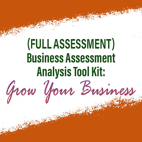 (Full Assessment) Business Assessment Analysis Tool Kit: To Grow Your Business