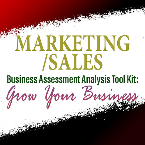 Marketing/Sales: Business Assessment Analysis Tool Kit To Grow Your Business