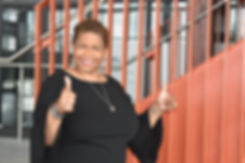 Sharon Campbell giving two thumbs up to