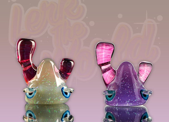 Lerk head pendant cfl and crushed opal