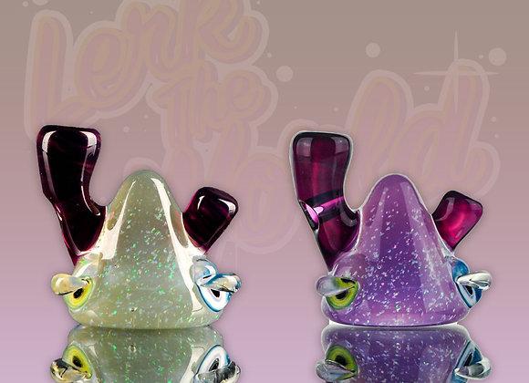 Lerk head pendant crushed opal and cfl