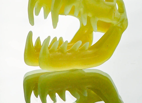 Kerm Glass Viper Skull