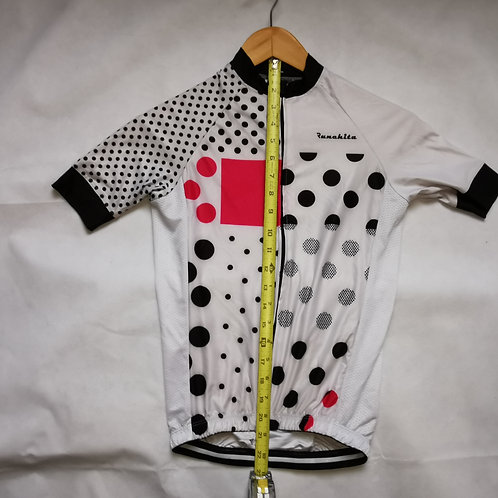 White - Black - Pink Polka Dot Jersey