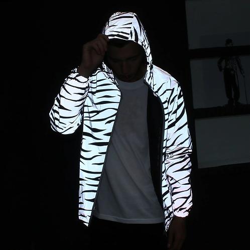 Reflective Tiger Striped Rain Jacket