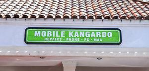 mobile kangaroo at the pavilion west shopping center