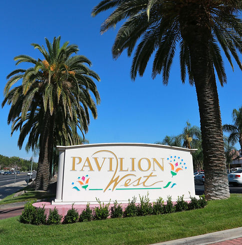 Pavilion West Shopping Center sign