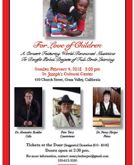 Join us! For Love of Children Feb. 4th, 2018 3:00 pm