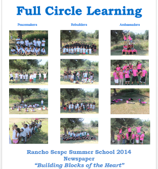 Planters of Peace Summer School 2014 Newspaper