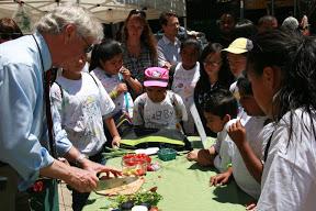 San-Leandro-Marina- Dr_ Maring cooking demo at the Kaiser farmers market - Marina SS