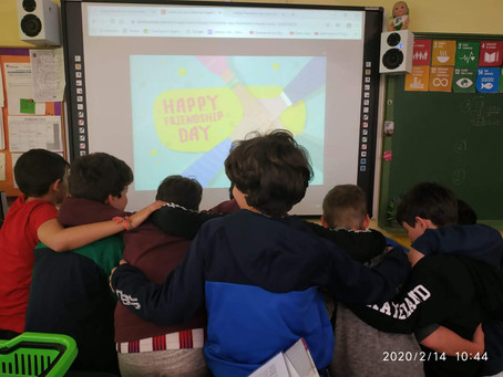English activity in Spain dedicated to friendship