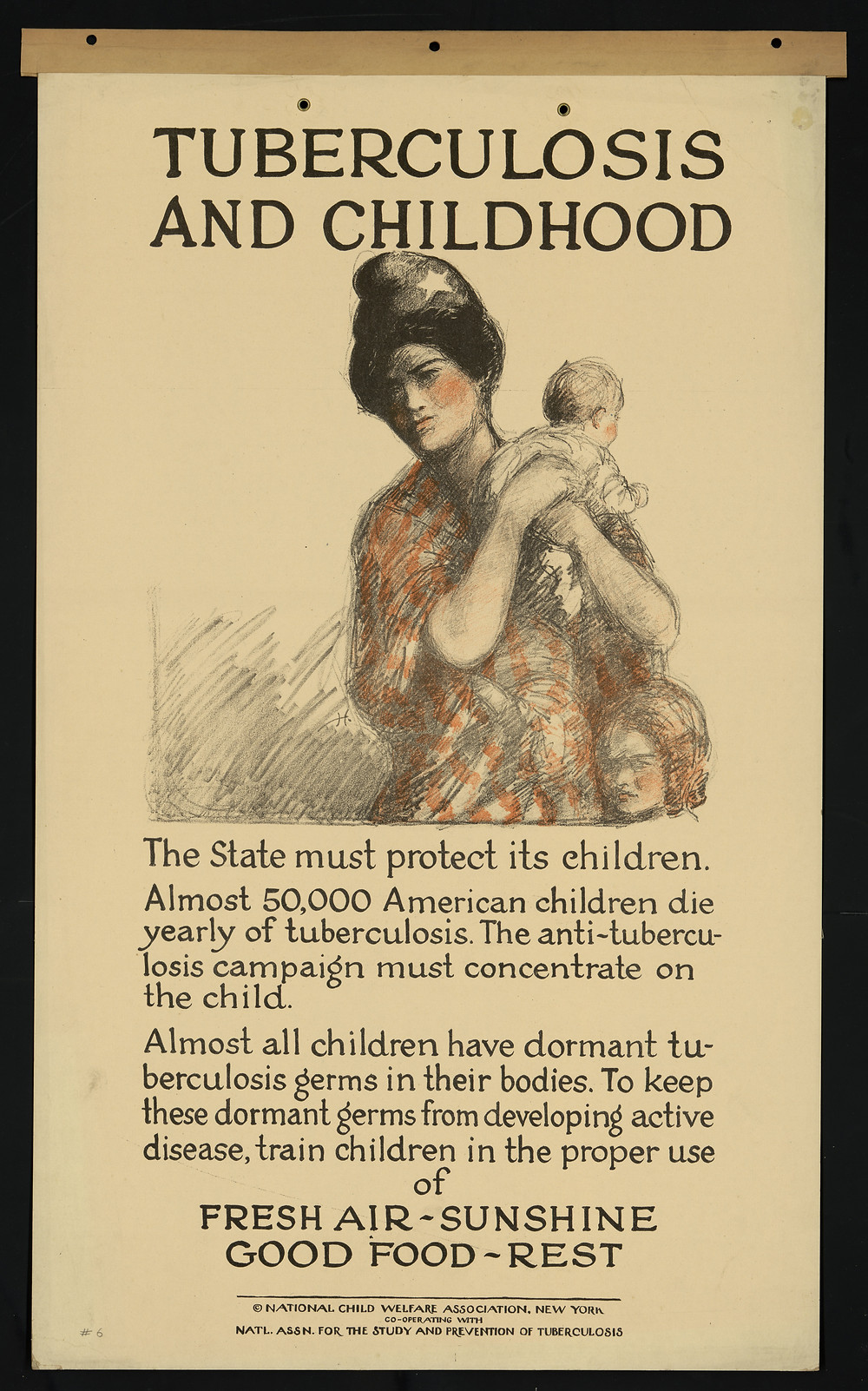 1920s public health poster on TB.