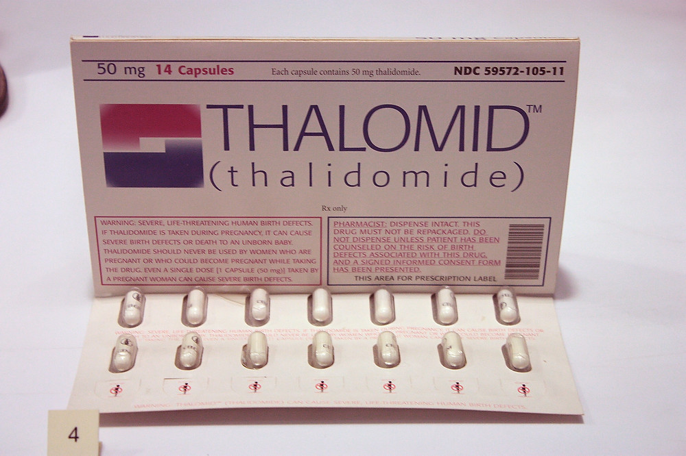 Pack of thalidomide