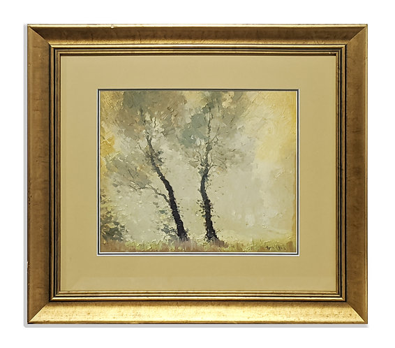 """""""Two Trees On The Lake"""" (c.1930)"""