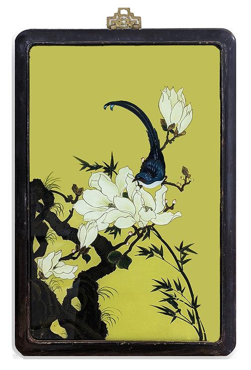 """Bluebird On Magnolia"" (c.1900)"
