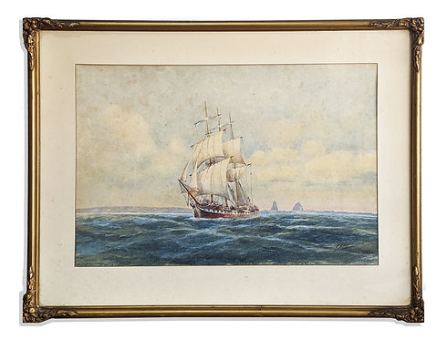 """Skipper Outside Sydney Heads"" (c.1900)"