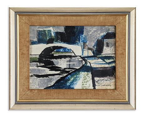 """""""Bridge, Paris"""" (c.1950)"""