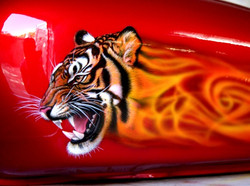 Tiger fuel tank art close-up