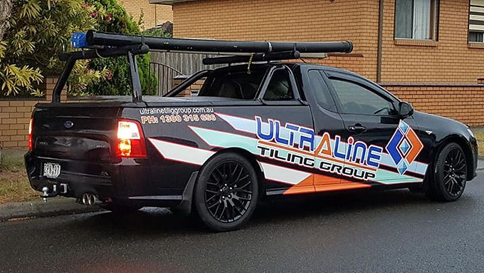 Ford Falcon Ute Sign installed