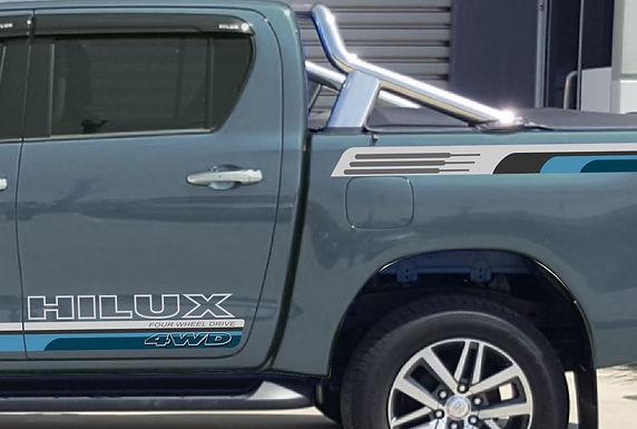 Toyota-Hilux-SR5-skirt&Tray-Body-Stripe-Blue