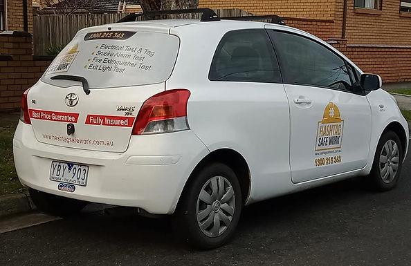Toyota-Yaris-hatchback-car-sign