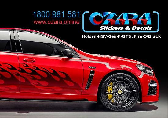 Holden-HSV-GTS /Fire-5/Black/Red-Sticker