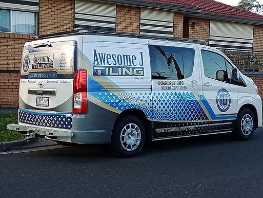 Toyota-Hiace-Crew-Van-Sign-Wrap