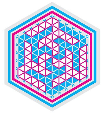 Ali-6-Hexagon-Blue