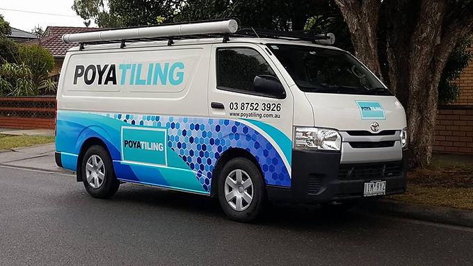 Toyota-Hiace-Van-Poya-Tiling-Sign