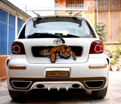Tiger in the car