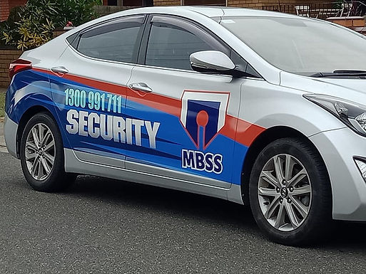 MBSS Security Hyundai Elantra sign