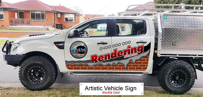 4WD-ute/Artistic-Sign-D-door