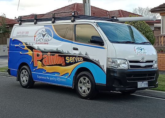 Hiace Van Easy Go Painting Sign wrap