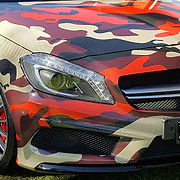 Custom made camouflage vehicle wrapping