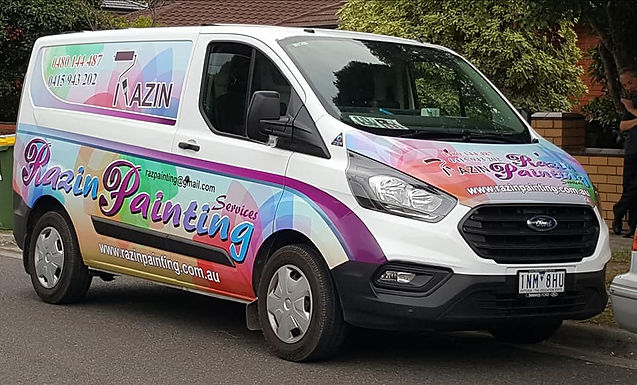 Ford Transit Custom Sign wrap