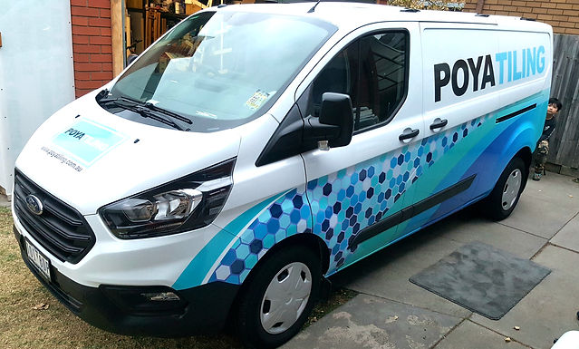Ford Transit Custom Sign Partial wrap