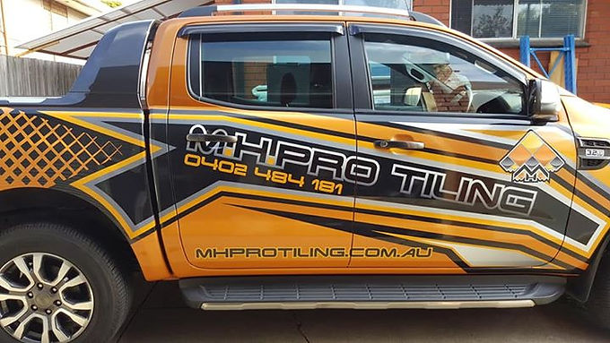 Ford Ranger Sign Parcial wrapped