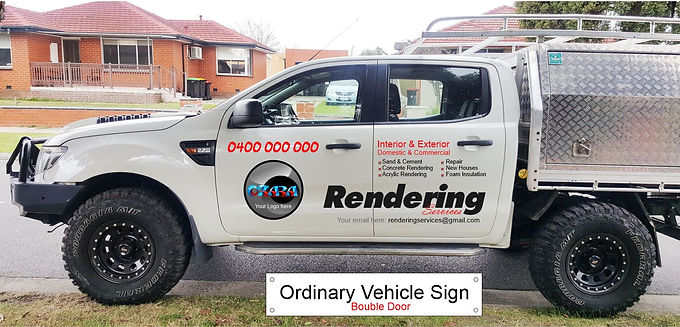 Ford-4WD-ute/Ordinary-Sign-Double-door
