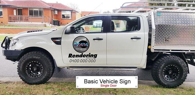 Ford-4WD-ute/Basic-Sign-Singel-door