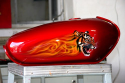 Tiger fuel tank art