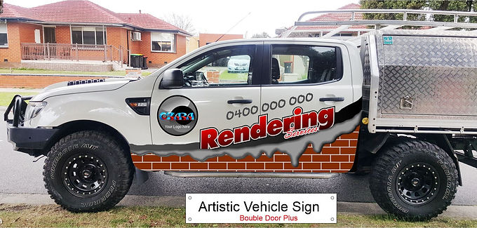 4WD-ute/Artistic-Sign-D-door-Plus